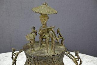 AFRIKA  ASHANTI  BRONZE GOLDSTAUBDOSE