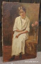 CHRISTIAN AIGENS (1870-1940)-PORTRAIT EINER DAME-ÖL AUF LEINWAND UM 1920