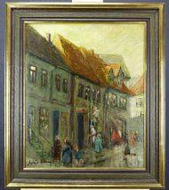 HELMUT ALBRECHT (1909-1999)-ALTSTADT VON RENDSBURG-ÖLGEMÄLDE SIGNIERT