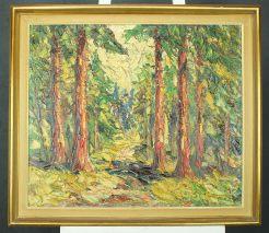FINN ANDERSEN (1909-1987) EXPRESSIONIST-WALDWEG-ÖL A.LEINW./SIGN.