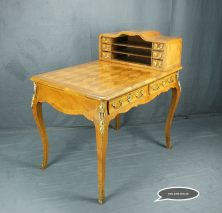 A REALWOOD AND PARQUETRY BUREAU PLAT AND CARTONNIER BY ANTON WERNER SVERIGE 1896