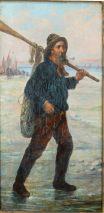 WILHELM BORMANN(29.7.1885-9.10.1938)-FISCHER AM STRAND-ÖL/LEINW.SIGN.