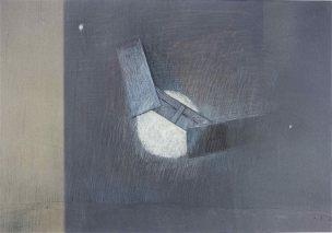 RUDOLF BÜDER(1920-2002) -ABSTRAKT-AUS REIHE FO-KREIDE SIGNIERT 1962