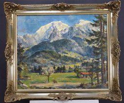 FRIEDRICH LUDWIG (1895-1970)-Bergpanorama des Hohen Gölls und des Hohen Bretts -EXPRESSIONIST