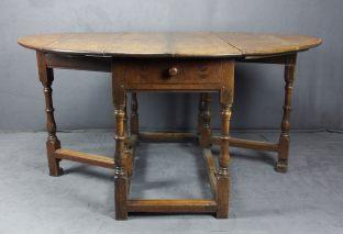 BAROCK TISCH GROSS GATE LEG TABLE GROSS OAK WOOD ENGLAND UM 1770