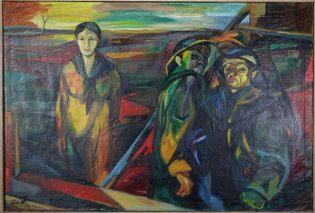 Hannes Gruber (* 22. Oktober 1928 in Adliswil bei Zürich)-Ölgemälde-SIGNIERT