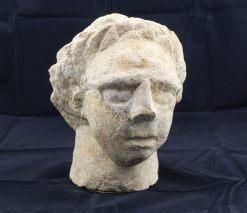 PARTHISCHE PLASTIK SKULPTUR KOPF PALMYRA CA.200 N.CHR.