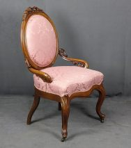 LOUIS PHILIPPE ROCK BERGERE SESSEL MAHAHONI UM 1850