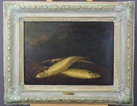 EMILY (EMELY)CROME (1801-1840)-DIE DREI MAKRELEN-ÖL/LEINWAND LONDON 1824