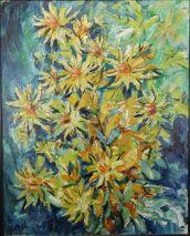 Charlotte (Murkel) Schuberth (1914-2000)-GELBES BLUMENBUKETT-