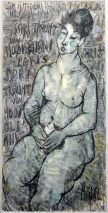 Charlotte (Murkel) Schuberth (1914-2000)-SARI TRÄUMT VON MODIGLIANI-ÖL/LEINWAND KIEL 1984