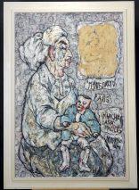 Charlotte (Murkel) Schuberth (1914-2000)-MARIE DAVID-MARCHE AUX PUCES PARIS/ÖL/LEIN.71/73