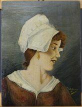 WILM ROHKAMM -BILDNIS EINER JUNGEN FRAU-SIGN.DATIERT 1906