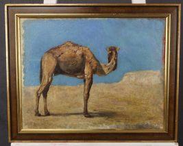 HEINRICH SUSEMIHL(1862-?)-KAMEL-ÖL AUF LEINWEIND