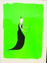 Henk Visch -Hexe In Giftgrün- Signiert 1988 Bl.9/10